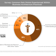Data visualization of common pain points in business architecture